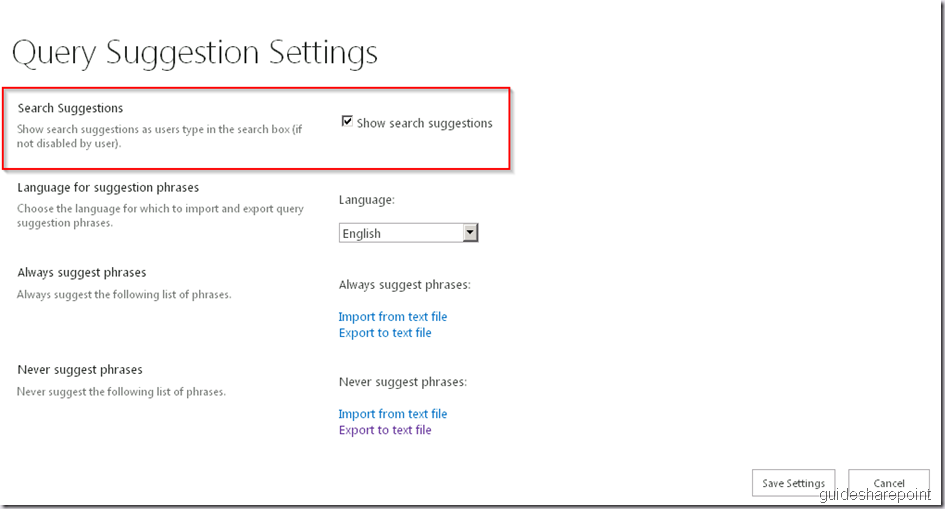 Search suggestions not working in SharePoint 2013